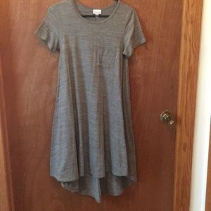 Heathered gray LulaRoe Carly dress
